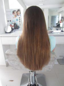 Przedłużenie z zagęszczeniem - efekt burzy włosów - ombre